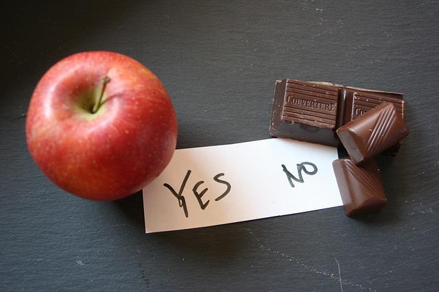 jablko- čokoláda – ano – ne