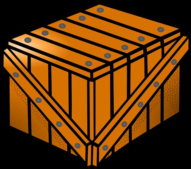 Ilustrace-dřevěná bedna